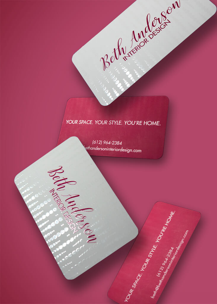 Beth Anderson Interior Design business card mockup