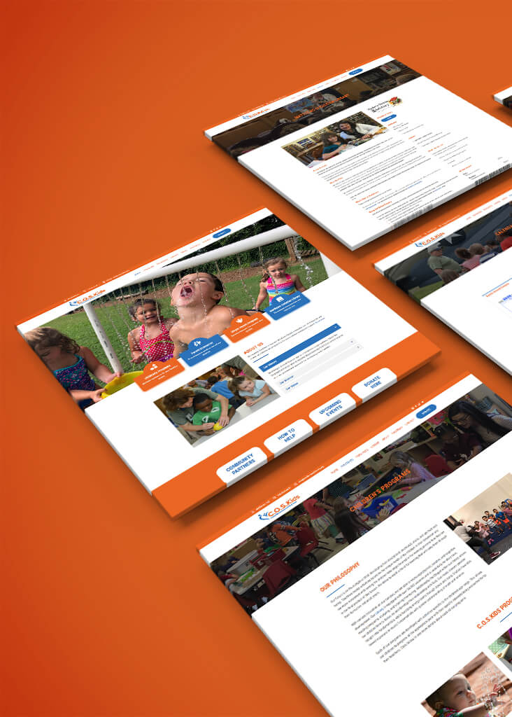 C.O.S.Kids web design mockup