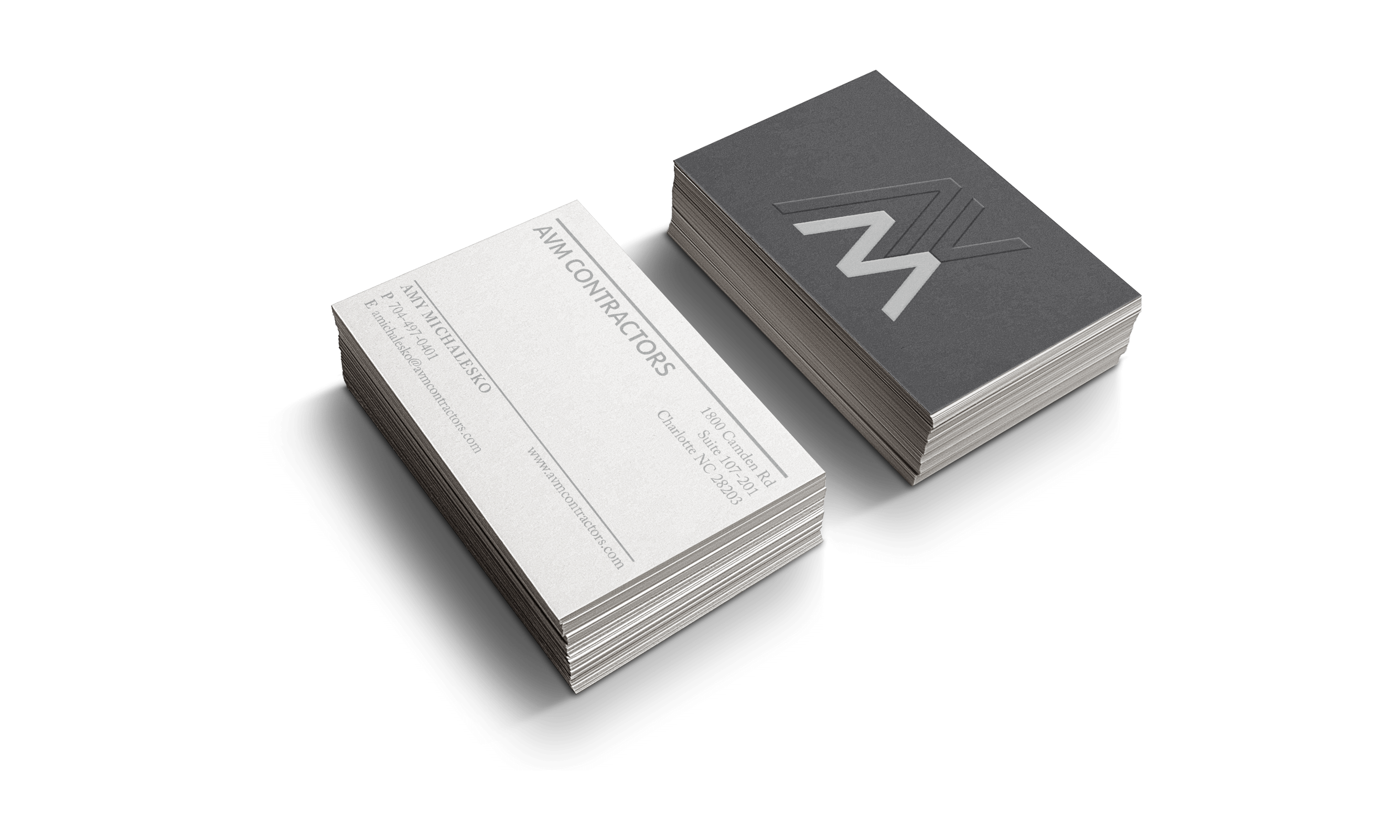AVM Contractors Business Cards